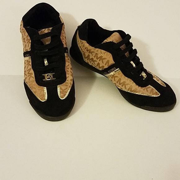 Michael Kors Black Gold Tennis Shoes